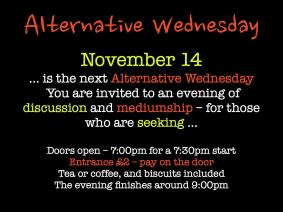 Alternative Wednesday - November 14